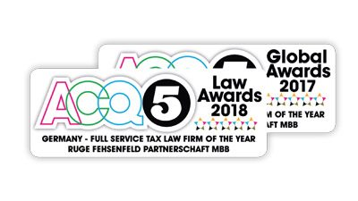 ACQ5- Full Service Tax Law Firm of the year - Germany 2018
