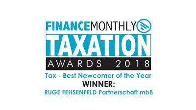 Finance Monthly -Taxation Award - 2018